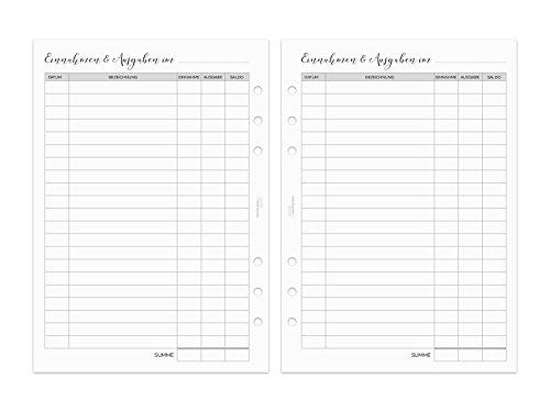 Finanz-Einlagen - Finanzübersicht - 20 Blatt - A5 - 148x210mm