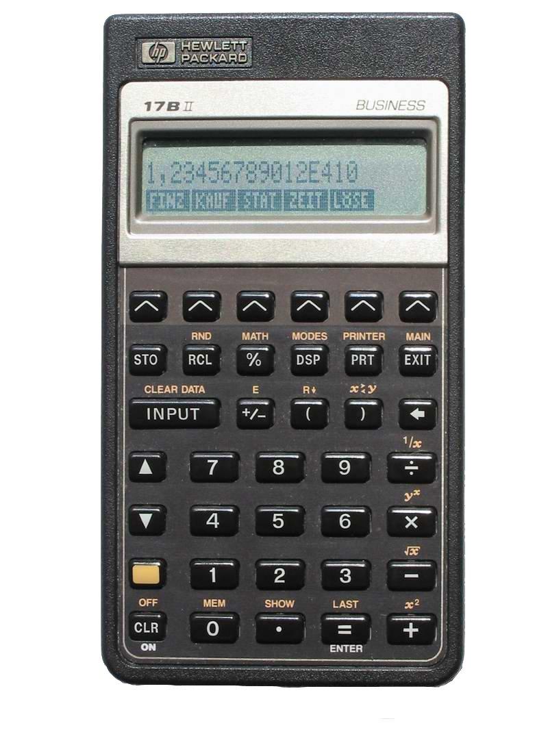HP (Hewlett Packard) Financial Calculator (HP 17bll+)