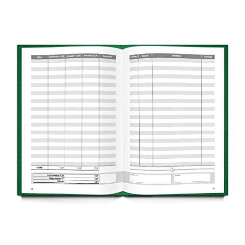 Ordnungsgemäßes Kassenbuch DIN A4 (Hardcover) in grün für Barzahlungen zur einfachen Übersicht der Finanzen und Geld-Einnahmen und Ausgaben; 148 Seiten; ideal auch als Geschenk! 1a Qualität - 2